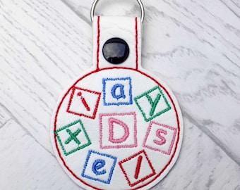 dyslexia keyring, dyslexic alert keyring, medic alert keychain, dyslexia awareness, dyslexic, dyslexia alert, medic alert, keyring,