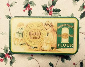 Gold Metal Flour Tin