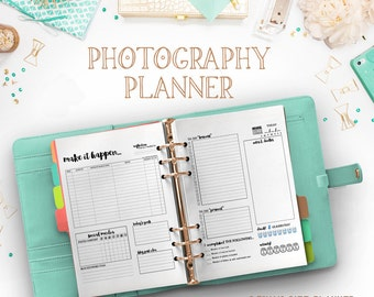Photography Planner Photoshop Template - Customize Colors To Fit Your Brand - INF101PL