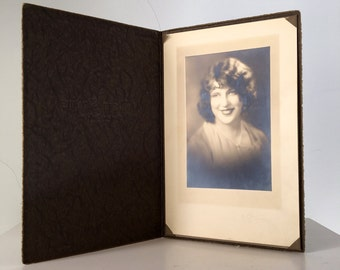Vintage Photo of Young Woman, 1930-40's, instant ancestor, sepia portrait