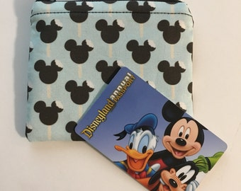 MINI Disneyland-Inspired Mickey Ice Cream Bar Handmade Fabric Small Zipper Pouch/Coin Purse