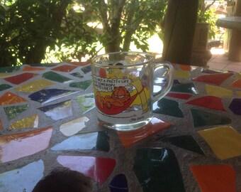Vintage glass McDonald's Garfield mug