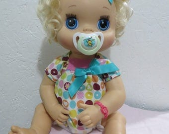 Baby Alive Pacifier for MY Baby ALIVE 2010 Interactive Doll - Cute Monkey Mint + White  - Please read description