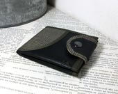 Monogram Wallet, Vegan Leather Wallet, Bifold Wallet, Leather Wallet for Man for Woman with Coin Pocket - UNUSUAL Wallet