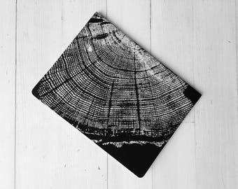 Custom Journal, Tree ring pattern, Custom lettering, Moleskine Cahier, Nature Journal, Journal for him, Journal for her, Tree ring art