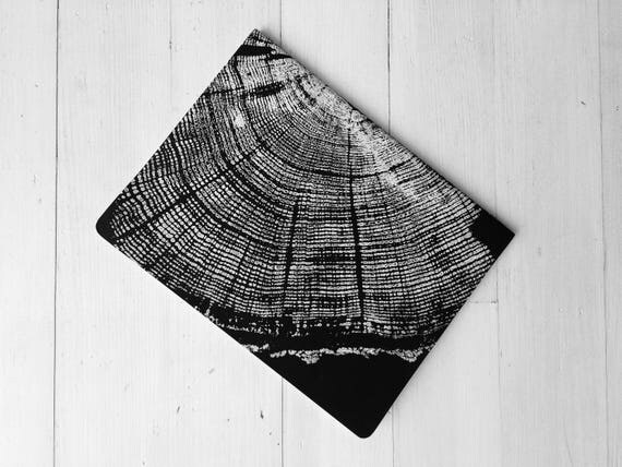 Custom Journal, Tree ring pattern, Custom lettering, Moleskine Cahier, Nature Journal, Journal for him, Journal for her, Tree ring art