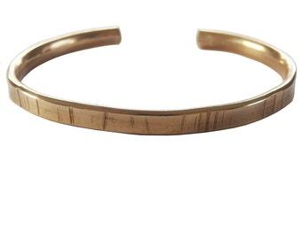 Brass Line Cuff Bracelet; Hammered Cuff Bracelet; Line Cuff Bracelet; Textured Jewelry; Stacking Bracelets; Arm Party; Geometric Cuff