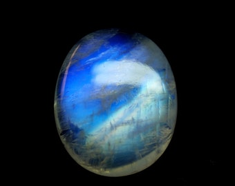 Amazing Rainbow Moonstone Cabochon / Loose Gemstone 23x19x7 mm Rare AAA+++ Quality Rainbow Moonstone Cabs