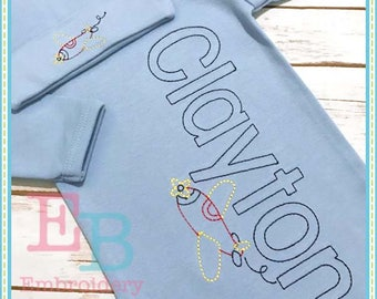 Grayson Block Alphabet - This design is to be used on an embroidery machine. Instant Download