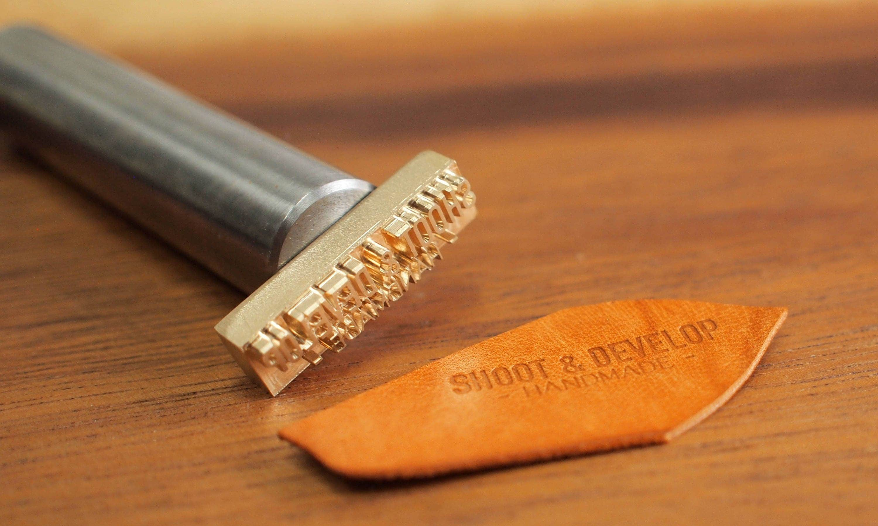 personalized leather stamp with hammering handle brass stamp for leather embossing