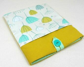Kindle voyage case, iPad sleeve with pocket, Tablet case, floral tablet cover, padded case, reader sleeve