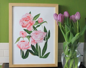 Peonies No. 1 Framed Print