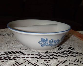 Beautiful Pflatzgraff Vintage Divided Bowl