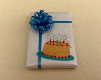 Birthday Cake Package w Blue Bow