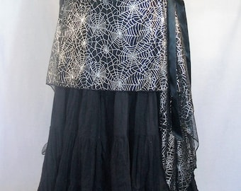 Sliver Spider Web Skirt