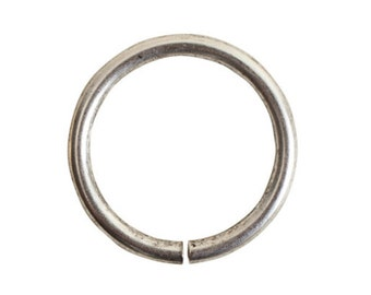 Jumpring Grande Circle - Antique Silver (plated) - ONE