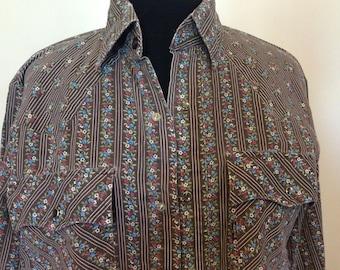 Vintage Levi Western Shirt - M