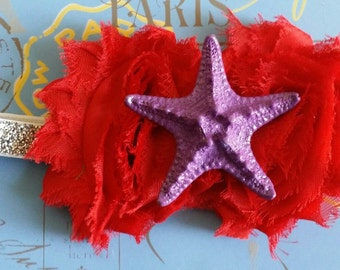 PICK YOUR COLORS! Mermaid Headband, Mermaid Costume, Ariel Headband, Mermaid Tutu Dress, Starfish Headband, Mermaid Party, Mermaid Birthday