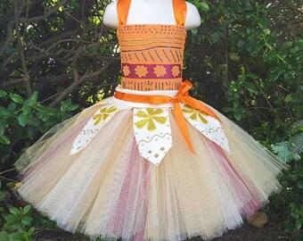 Handcrafted Moana Inspired Tutu Dress, Moana Dress, Moana Outfit, Moana Costume, Moana Tutu, Moana Birthday