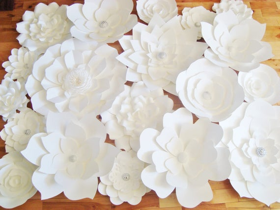 diy paper flower backdrop white paper flower wedding