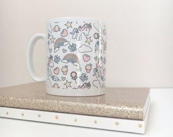 Mug | I Love... Unicorns Pattern