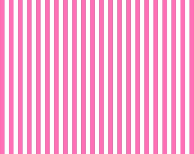 Neon Pink 0.4 Stripe - Can Coordinate with the Kokeshi Swim Fabric Boutique Brand Swim Knit Fabric by Boo Designs of Australia