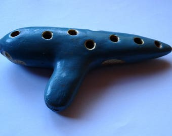 Vintage pottery OCARINA FLUTE WHISTLE