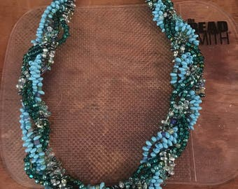 Chunky Braided Bead Necklace