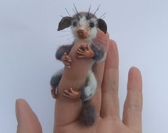 The Smallest Monkey- Sculpture Made Of Wool