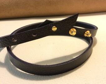 Women's Black Water Buffalo Belt. Limited Quantity in Black.