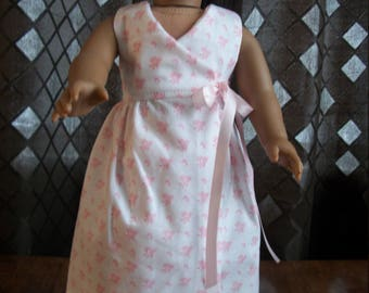 """Handmade White Floral Maxi Dress - 18"""" Doll Dress - 18"""" Doll Clothes-American Made"""