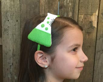 Beaker Headband  (from 100% recycled plastic bottle) - lime green