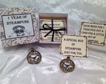 1 Year of Steampunk ~ Victoriana, Quotes, Pick a card, Wedding Favours