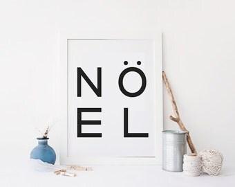 NOEL -  Christmas Print - Printable Art - NOEL - Inspiration Print - CHRISTMAS - Scandinavian Style - Christmas prints - Custom Size