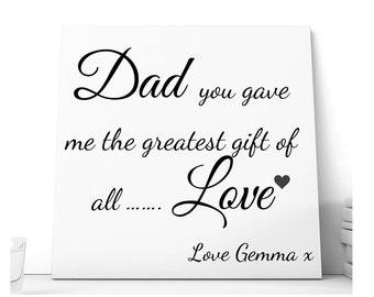 Personalised Dad Ceramic Plaque.