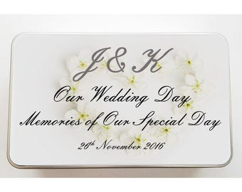 Our Wedding Day Personalised Tin