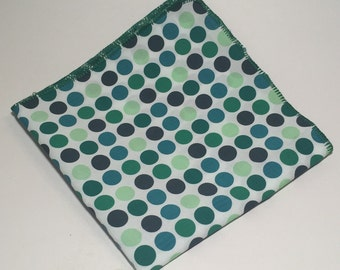 A Green Polka Dot Pocket Square