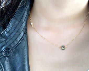 Personalized Initial choker cubic zirconia choker monogram initial necklace cz necklace monogram letter necklace cz jewelry 14k gold filled