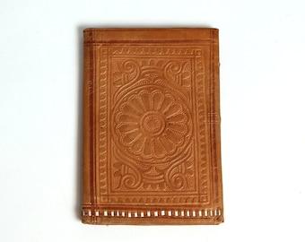 Vintage Leather Money Purse, Small Retro Brown Change Purse, Small wallet, Vintage coin purse, Leather Portfolio, Folding Billfold