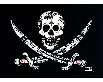 Jack Rackham Jolly Roger Folk - ART PRINT