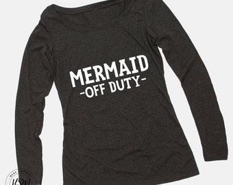 Mermaid Off Duty Long Sleeve Scoop Tee