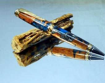 Mystical Koa Pen Blanks that Glow in the Dark Blue or Green your choice!