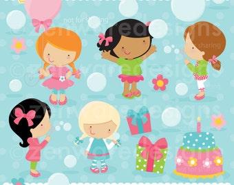 Bubble Party Clipart