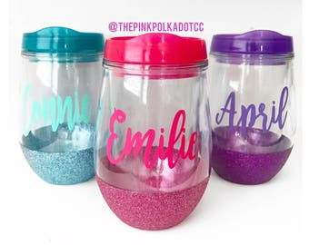 Personalized Wine Tumbler; Design Your Own Wine Glass; Mother's Day; Wine Cup; Wine Tumbler; Name; Personalized Wine Glass; Pool Glass