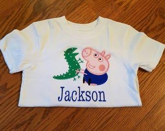 Peppa pig and George shirt