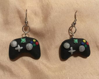 Black Xbox Controller Earrings