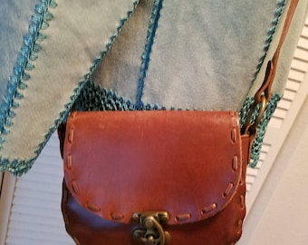Authentic ZARA Leather  Crossbody Handbag