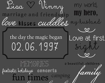 Anniversary Marriage Chalkboard Digital