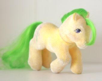 My Little Pony G1 So Soft Magic Star Yellow Rearing Earth Pony - MLP Fuzzy Ponies