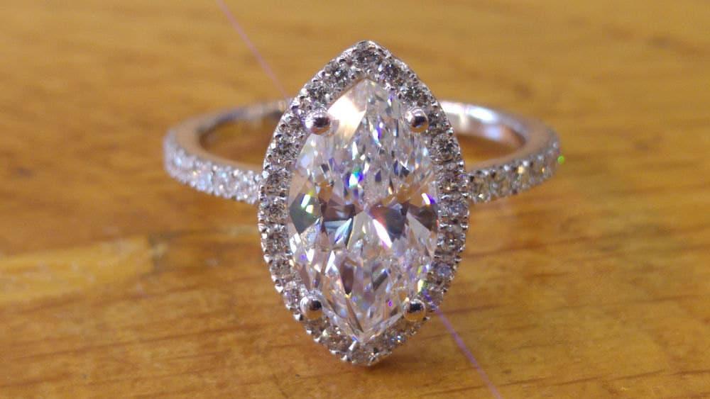 Marquise diamond | Etsy